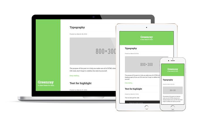 绿色简洁响应式typecho模板Greenray