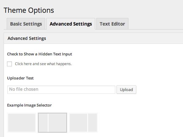 wordpress主题后台设置框架Options Framework使用教程