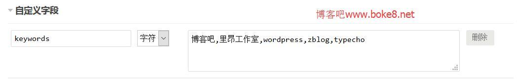 Typecho文章自定义字段的使用方法