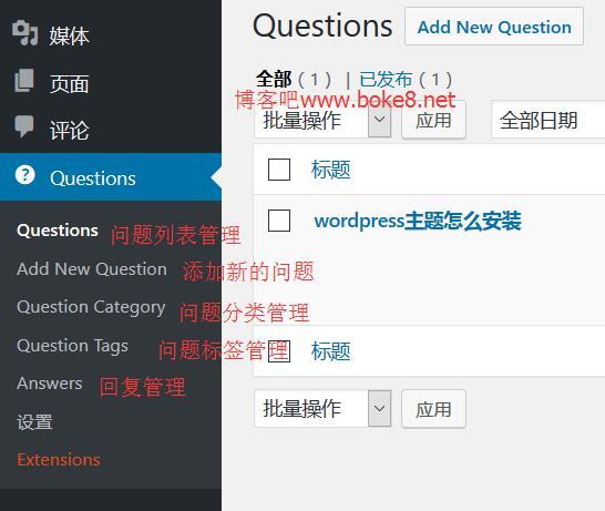 WordPress互动问答插件DW Question & Answer使用教程