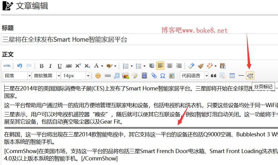 zblog php免费文章内容分页插件dm_fy