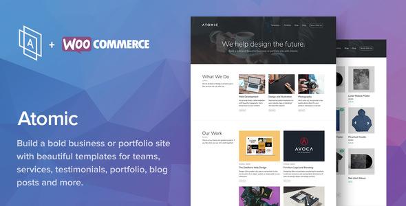 WordPress商务团队作品主题Atomic