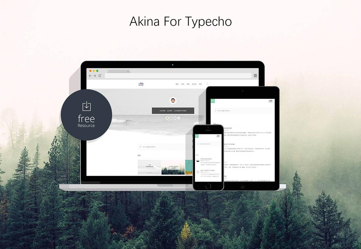 精致一栏Typecho主题模板Akina