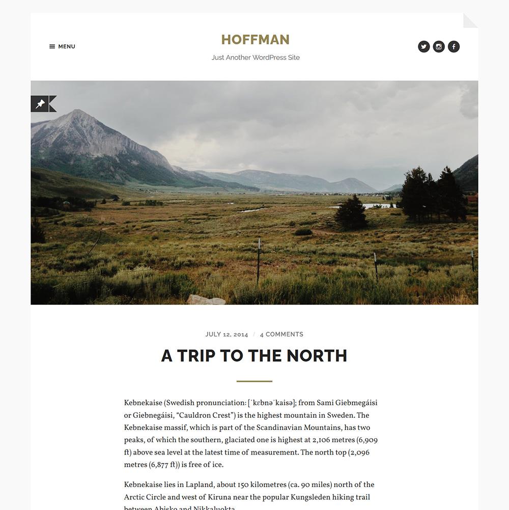时尚精巧的WordPress摄影博客主题Hoffman