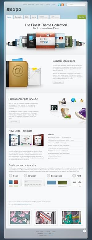 web2.0风格清爽Joomla 1.5模板主题YT Expo