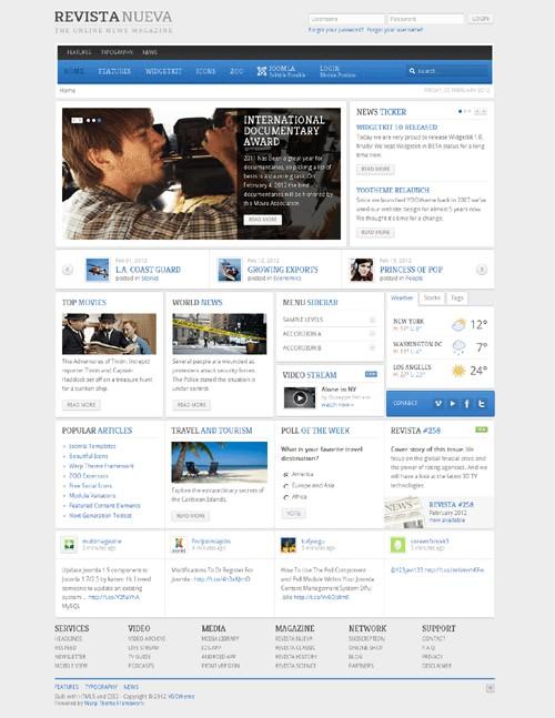 YT作品Joomla 1.5&2.5杂志模板主题Revista