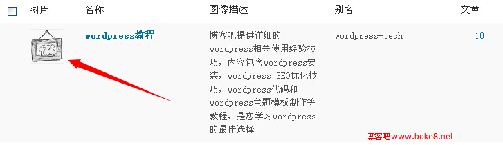wordpress 分类缩略图插件Categories Images